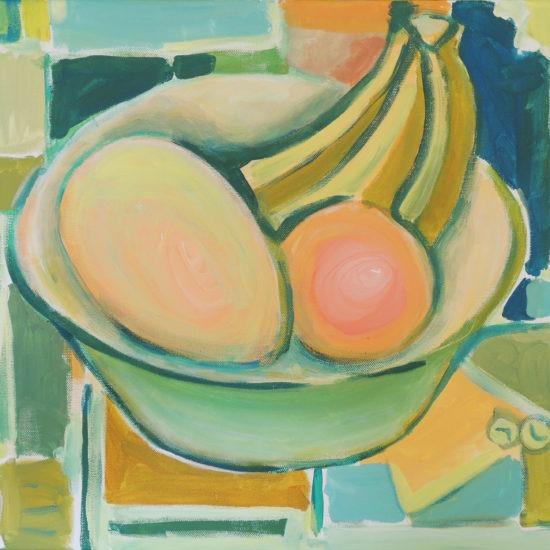 Vaikelu meloni apelsini ja banaanidega 46x55